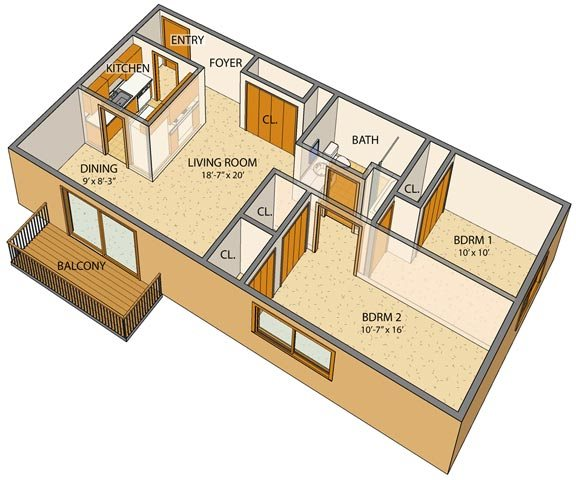 Olde Towne Village Floor Plan 2
