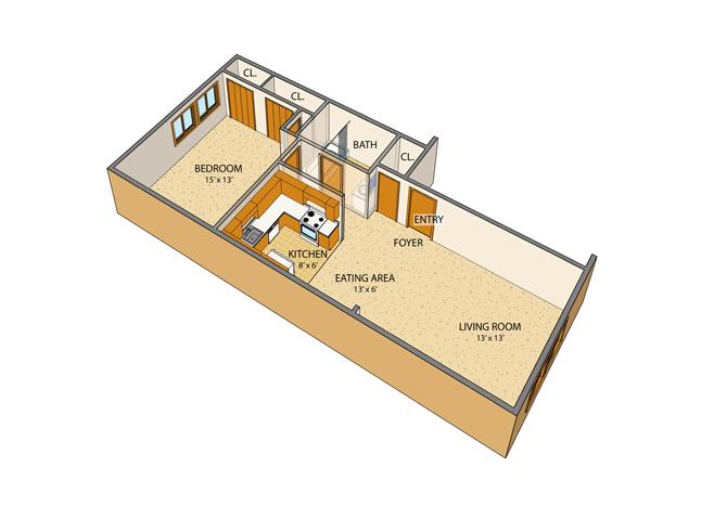 Peppertree Village Floor Plan 1