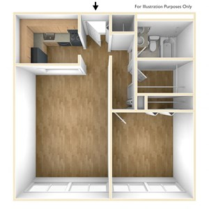 One Bedroom Apartment Floor Plan Park Tower Apartments