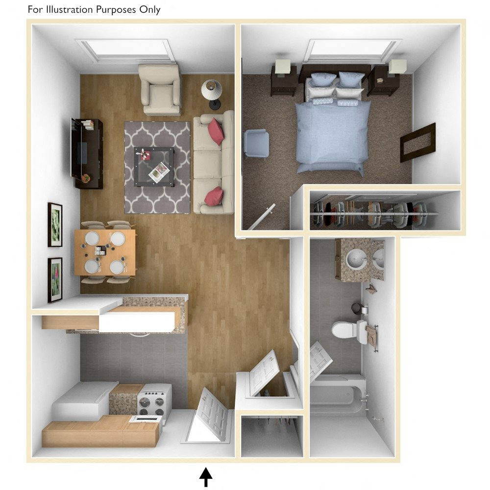Floor Plans of Royal Worcester Apartments in Worcester, MA