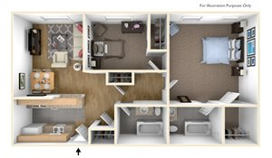 Two Bedroom Apartment Floor Plan Royal Worcester Apartments