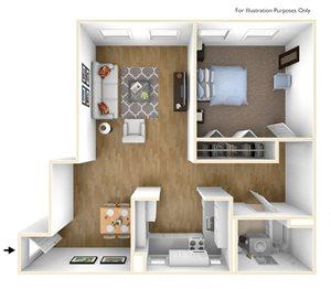 One Bedroom Floor Plan Chapman House Apartments
