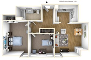 Two Bedroom Apartment Floor Plan Chapman House Apartments