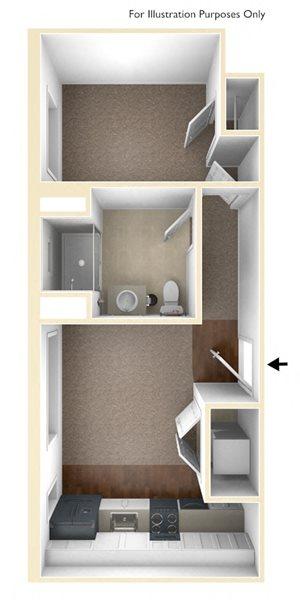 One Bedroom Floor Plan Conway Court Apartments