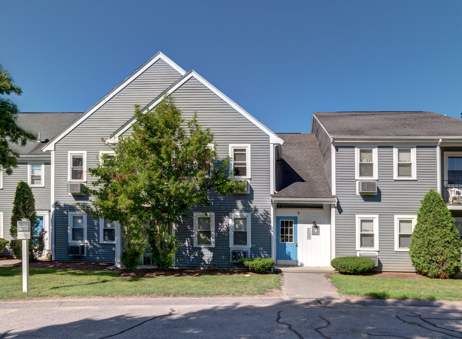 Townhouse style apartments at Blue Hills Village in Canton, MA