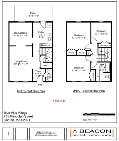 3 Bed 1.5 Bath Floor Plan 3