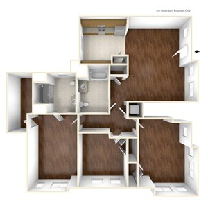 Three Bedroom Apartment Floor Plan Old Colony Apartments