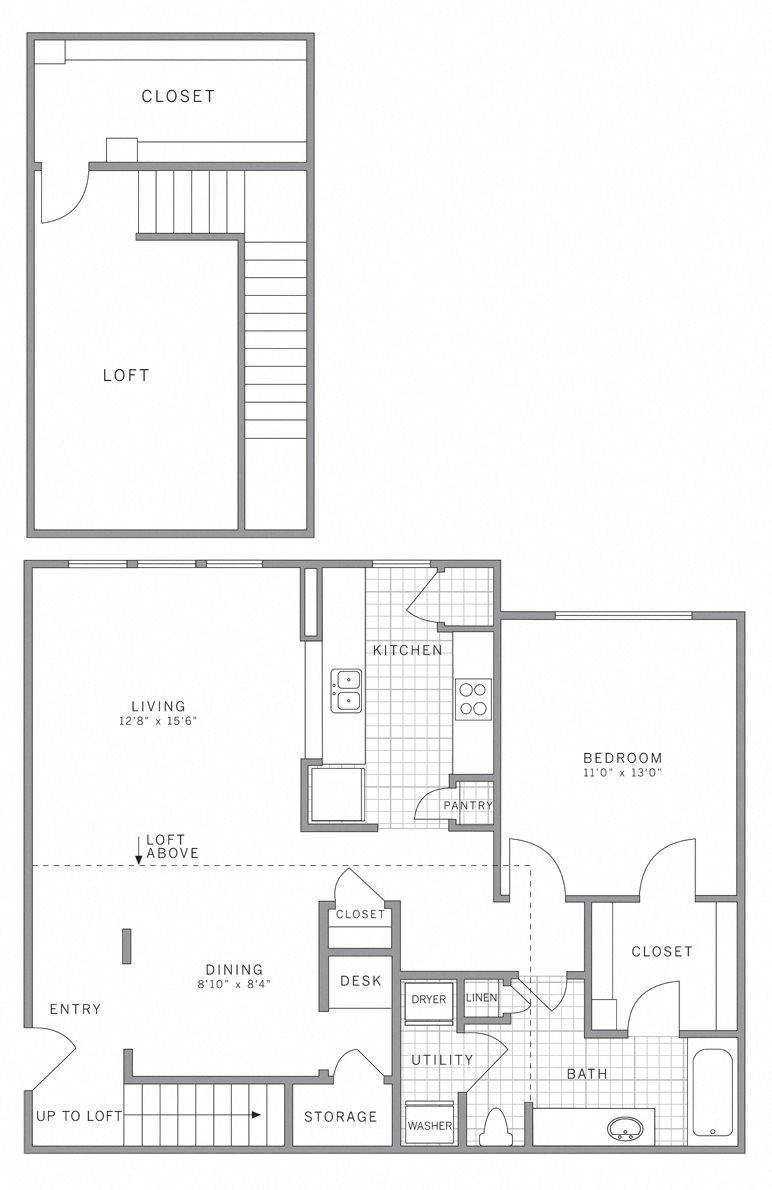 A2 Loft Floor Plan 4