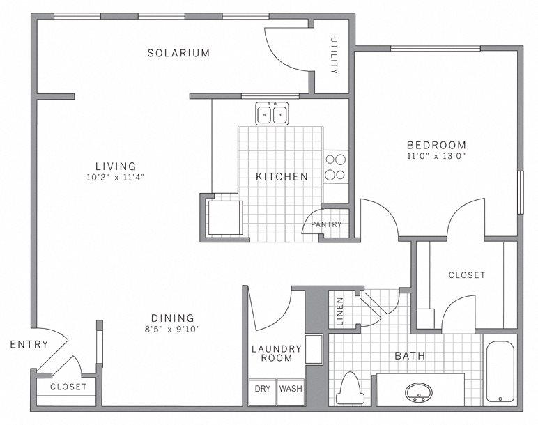 A2 Solarium Floor Plan 5