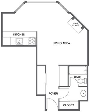 Studio (Floor Plan 1)