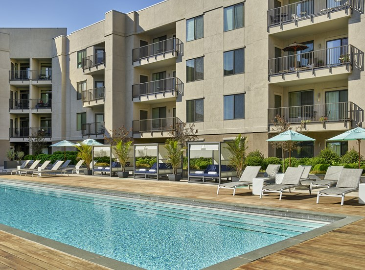 Swimming Pool With Relaxing Sundecks at AVE Clifton, Clifton, New Jersey