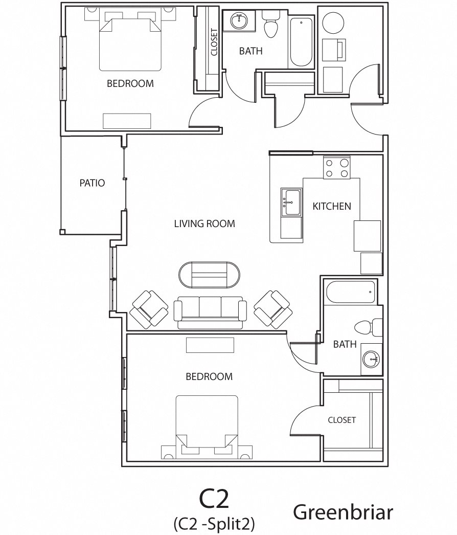 Greenbriar (2 Bed) Floor Plan 6