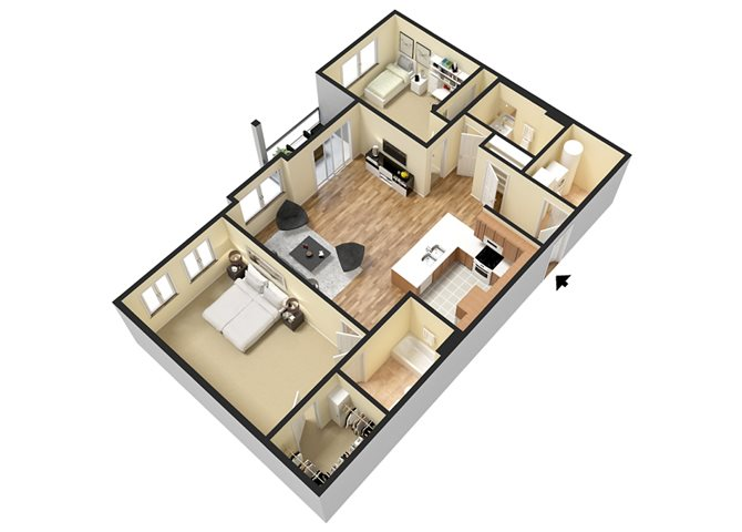 Baker (2 Bed) Floor Plan 8