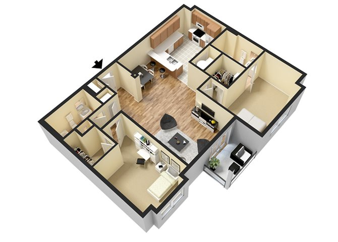 Catoctin (2 Bed) Floor Plan 5