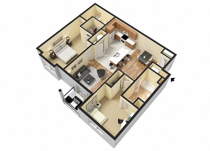 Cunningham (2 Bed) Floor Plan 7