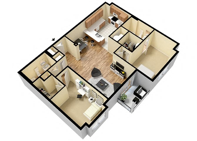 Gambrill (2 Bed) Floor Plan 4