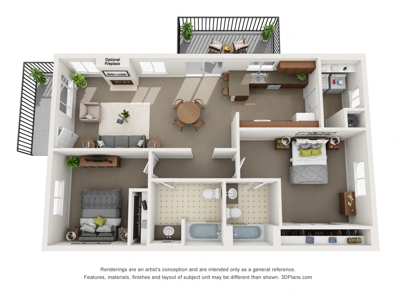 Heritage Single Level Floor Plan 3