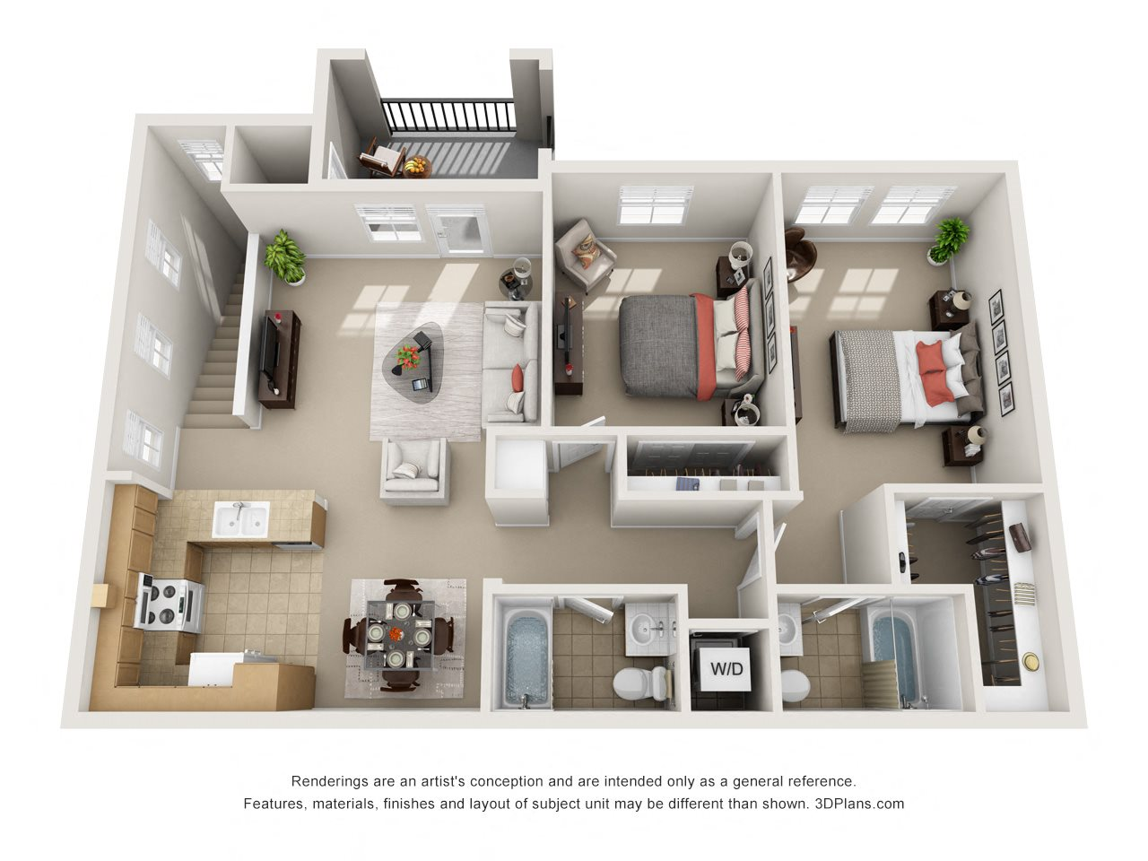 Villa Roma, Upstairs Floor Plan 4