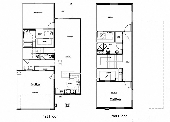 3 Bedroom Townhouse Floor Plan 6