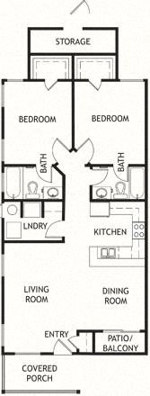 2 Bedroom, 2 Bath, Single Level