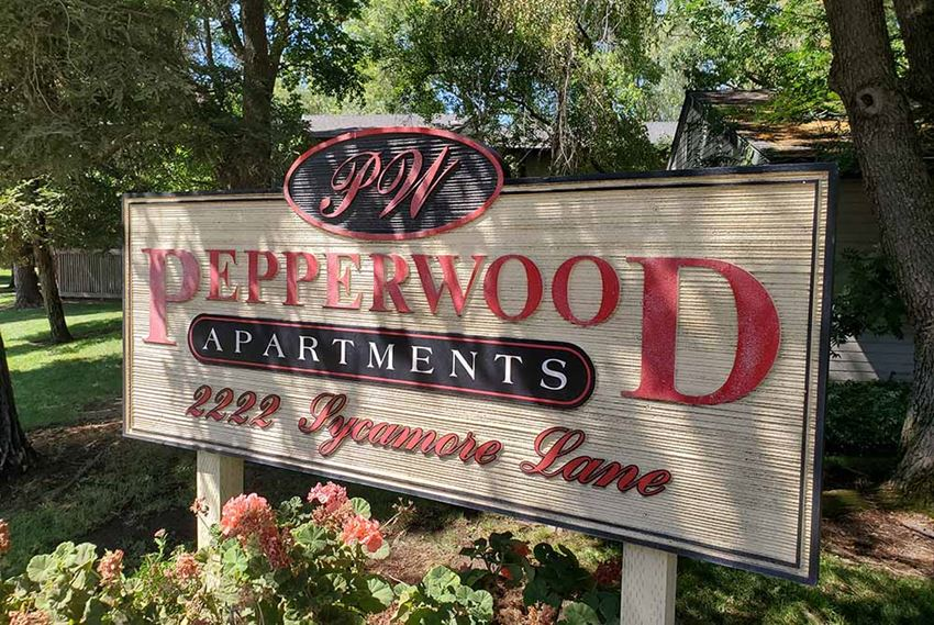 Pepperwood monument sign  l Pepperwood Apartments in Davis CA