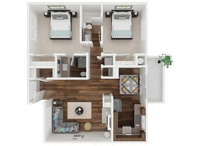 Black Walnut Cottage floor plan.