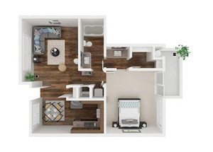 English Walnut floor plan.