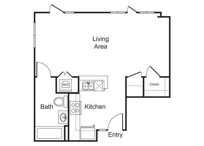 STUDIO D floor plan
