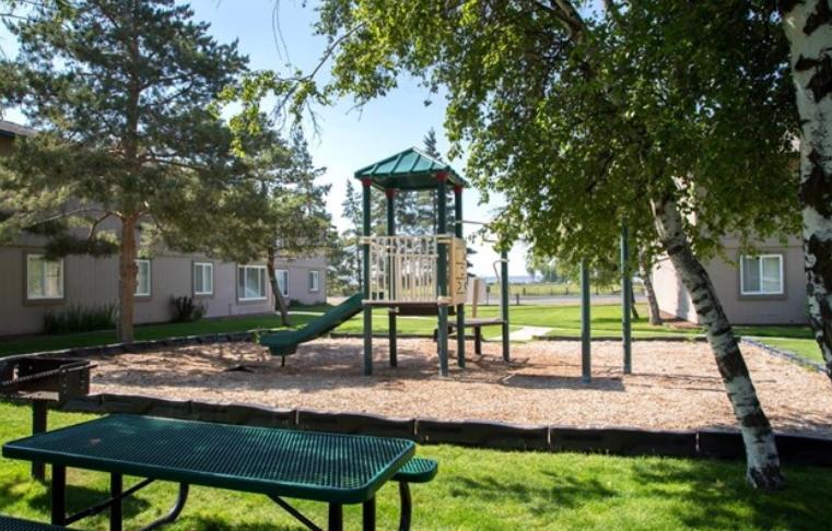 Bench and playground