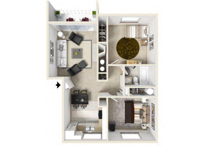 The Coronado floor plan.
