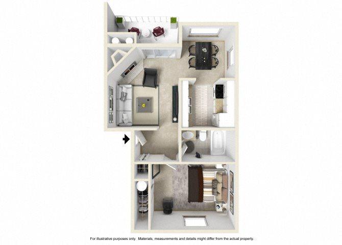 The Serano floor plan.