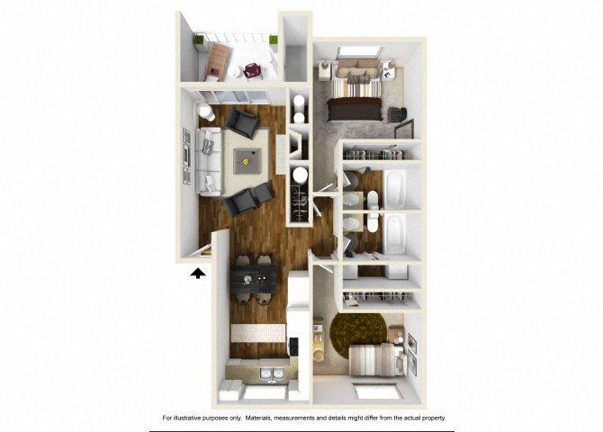 The Villa floor plan.