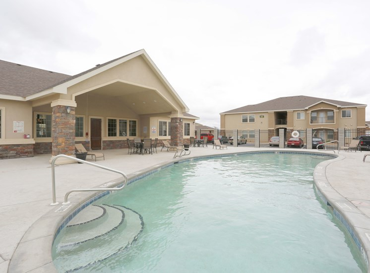 Community swimming pool Homestead Apartments in Hobbs, NM