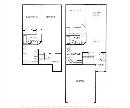 p2b1.5bl 2 Bedroom 1.5 Bathroom