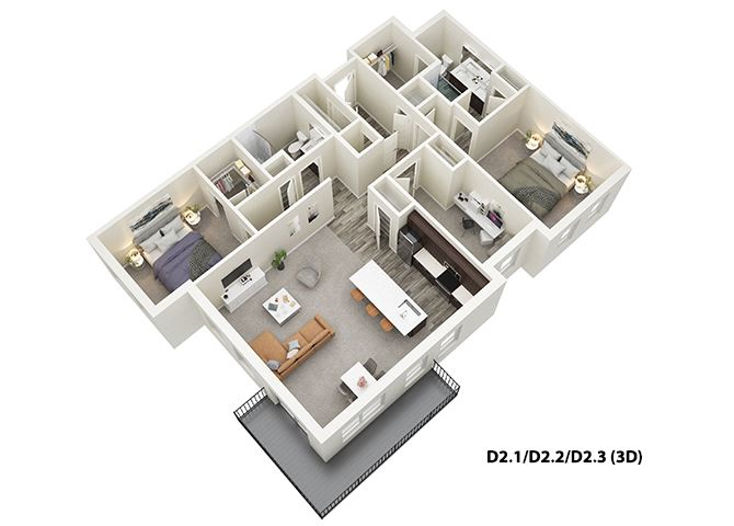 Unit Map at One Deerfield, Mason