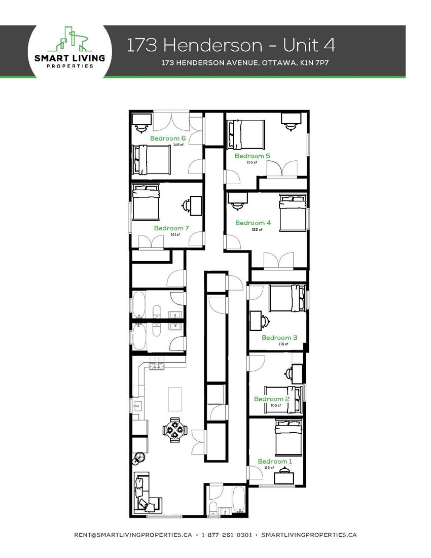 7 Bedroom - 3 Baths