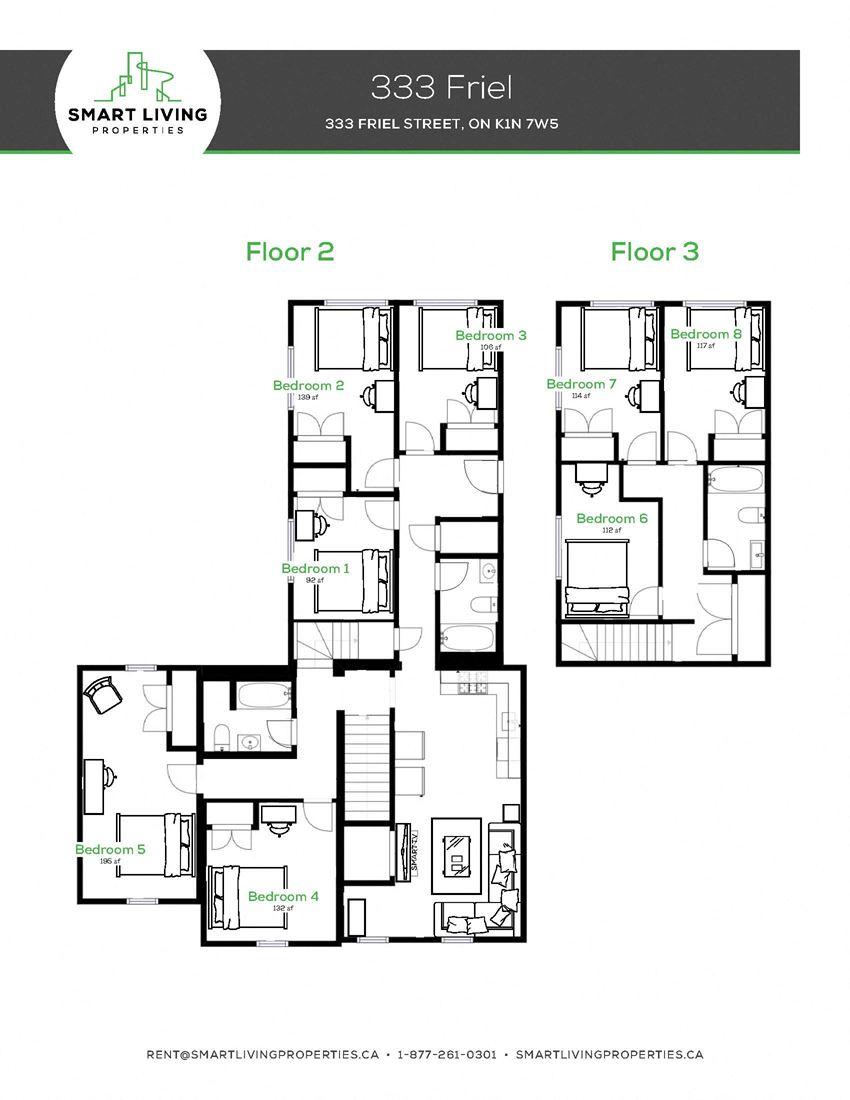 8 Bedroom - 3 Bath