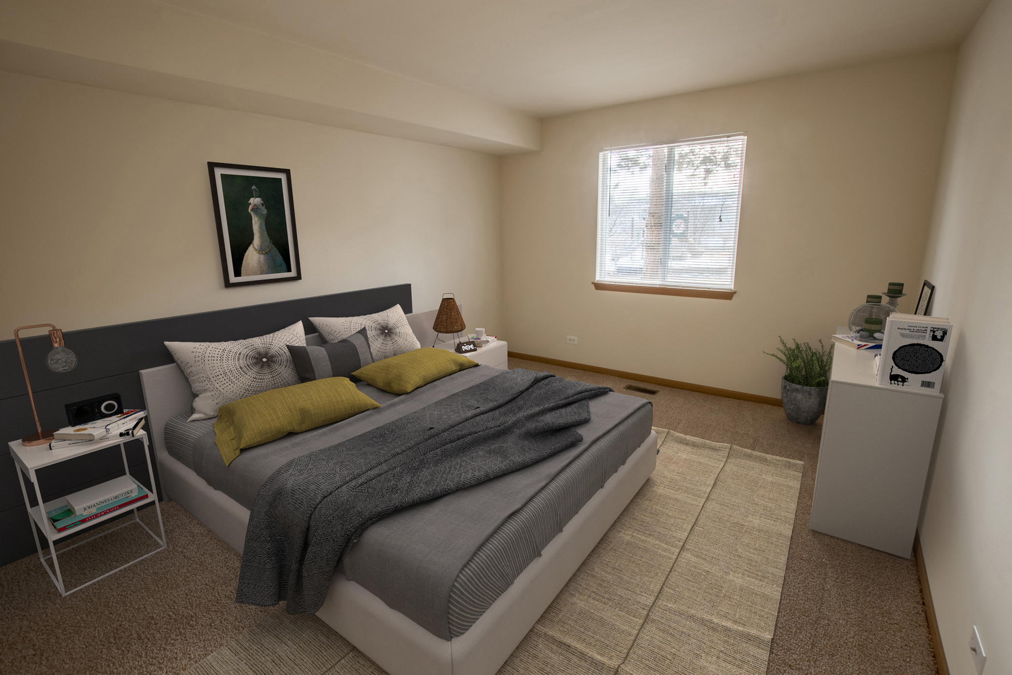 Large Bedroom at Fox Pointe Apartments in Aurora, IL