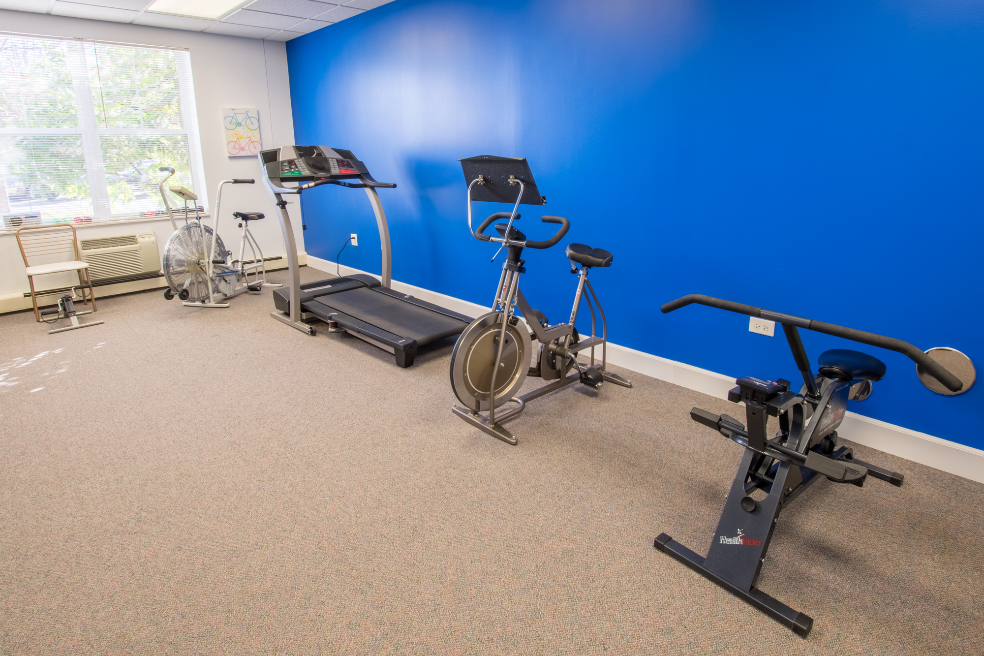 Fitness Center at Lakewood Towers Senior Apartments in Lake Villa, IL