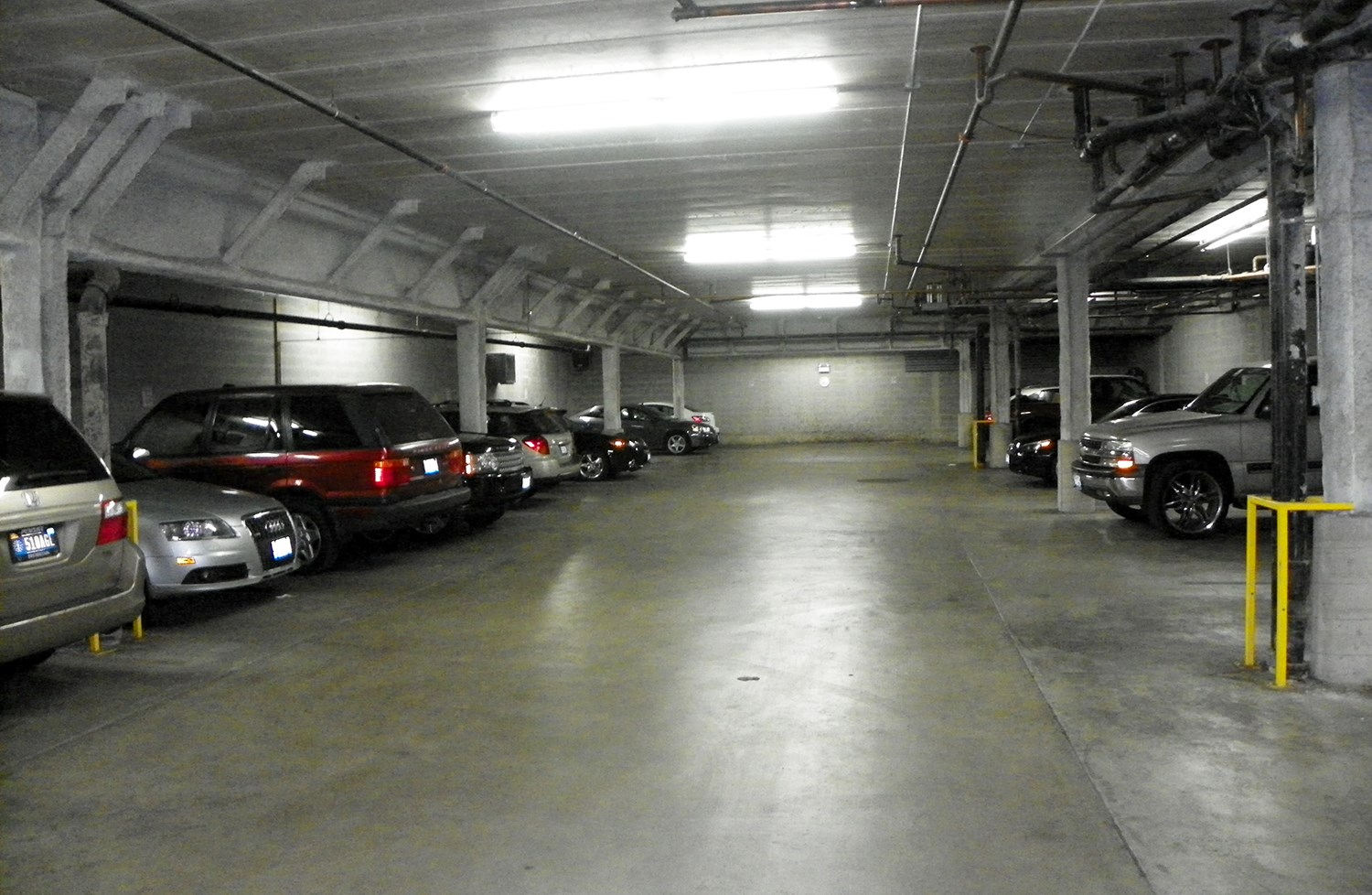 Parking Garage at Kimball Station Apartments in Chicago, IL