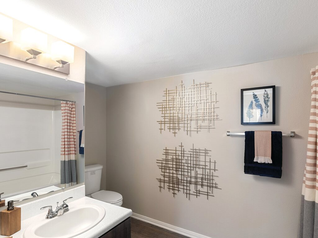Espresso Finish Model Bathroom at Loma Vista Apartments in North Las Vegas NV