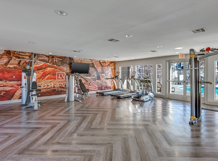 Fitness center at Loma Vista apartments in Las Vegas NV