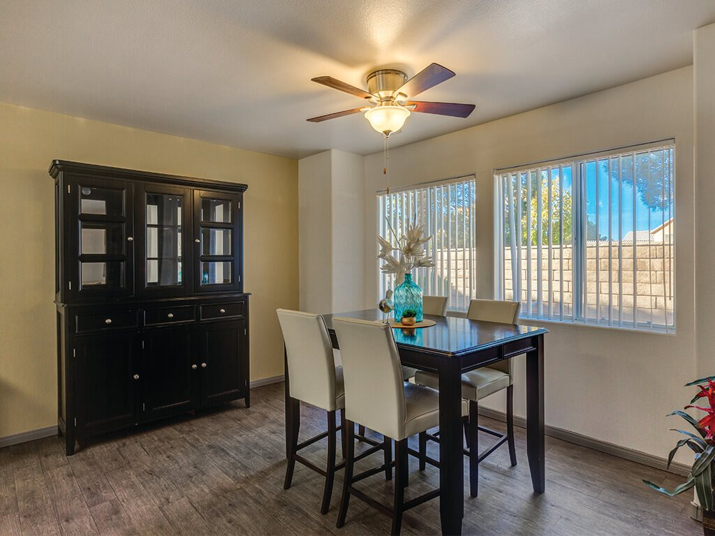 Ivory Finish Model Dining Area  at Loma Vista Apartments in North Las Vegas NV