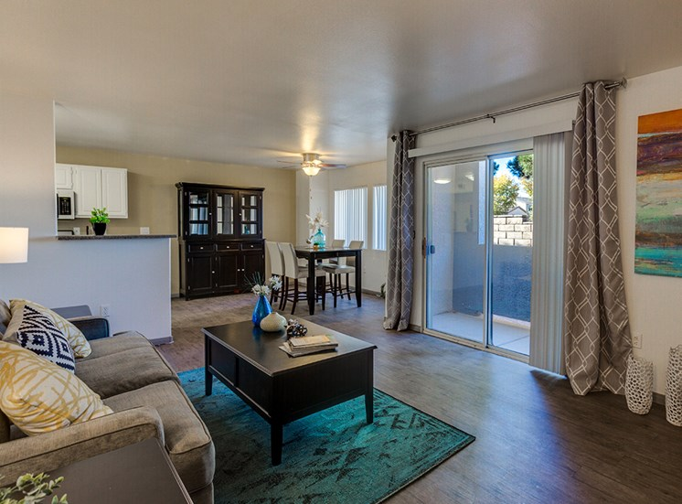 Living space at Loma Vista apartments in Las Vegas NV