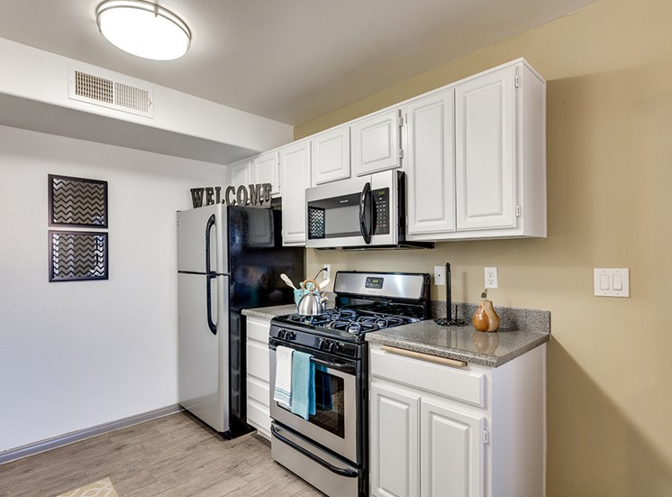 Stainless steel appliances at Loma Vista Apartments in Las Vegas NV