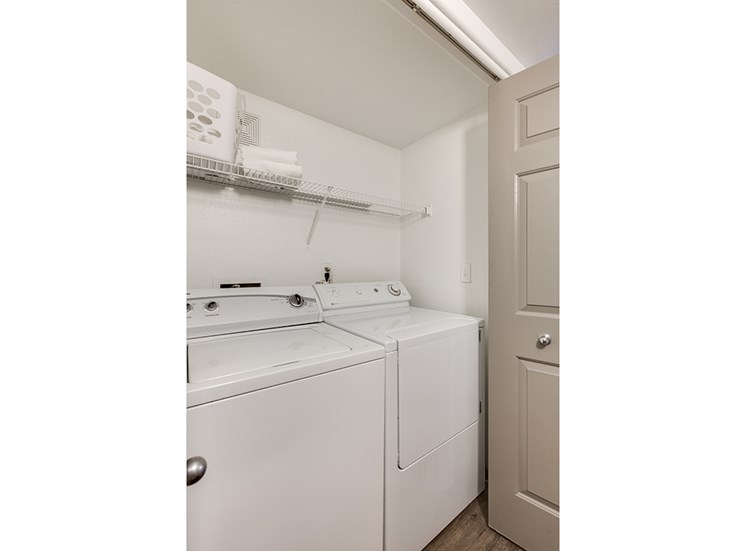 Washer and dryer at Loma Vista apartments in Las Vegas NV