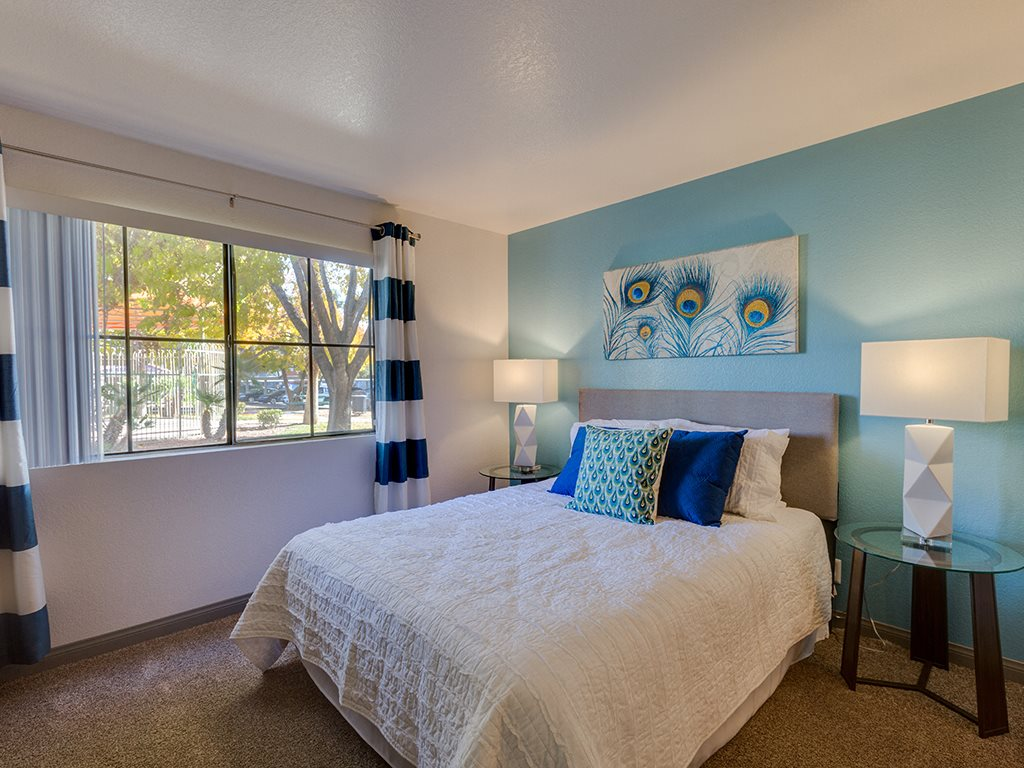 Bedroom at Stonegate apartments in Las vegas NV