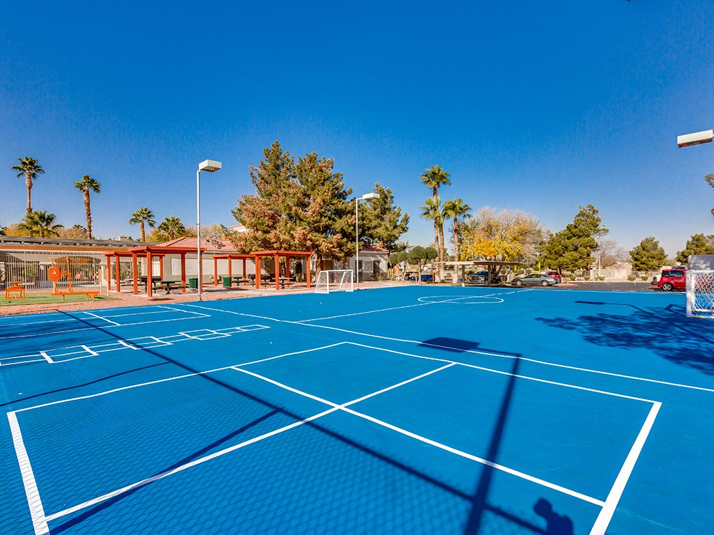 Outdoor sports court at Stonegate apartments in Las vegas NV