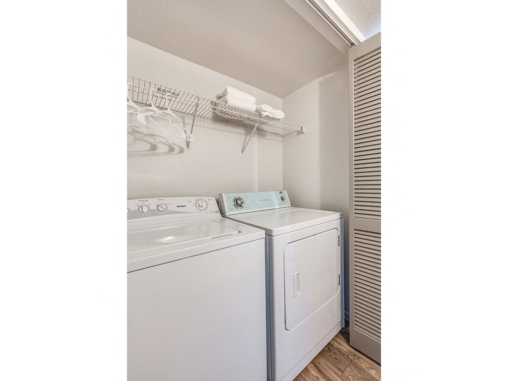 Washer and dryer at Stonegate apartments in Las vegas NV