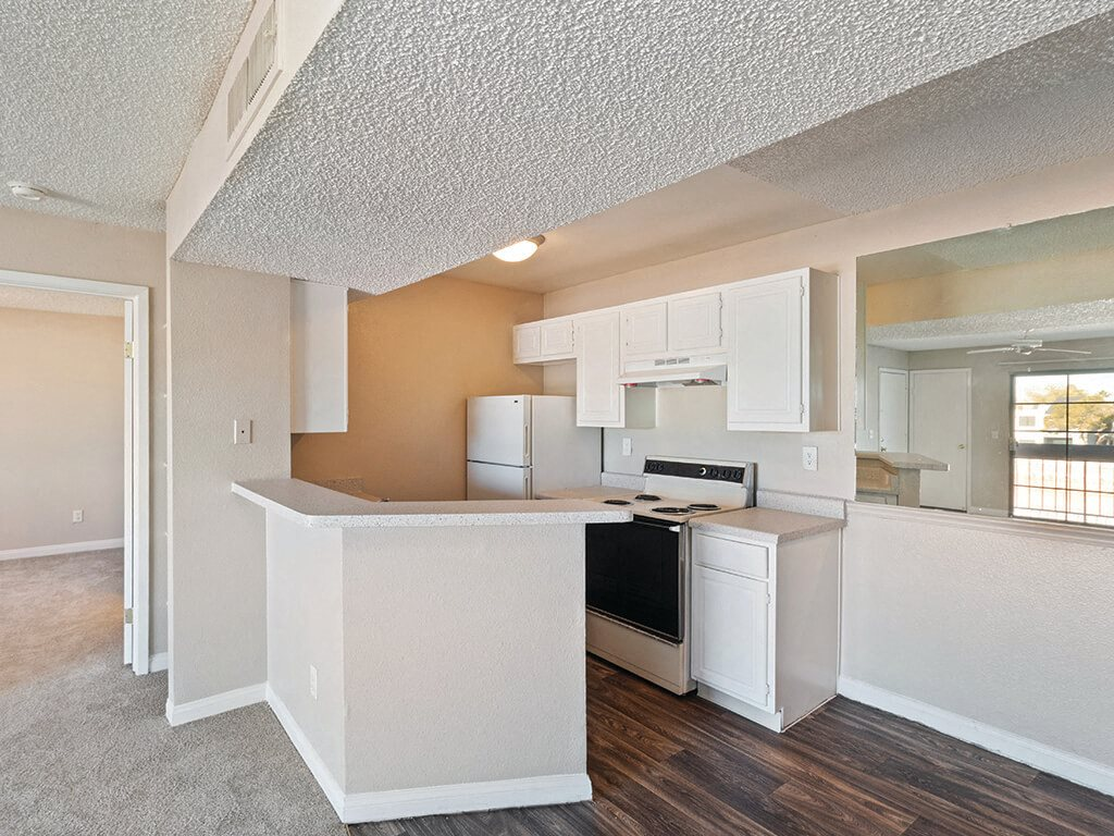 Classic apartment kitchen at Viridian Palms Apartments in Las Vegas
